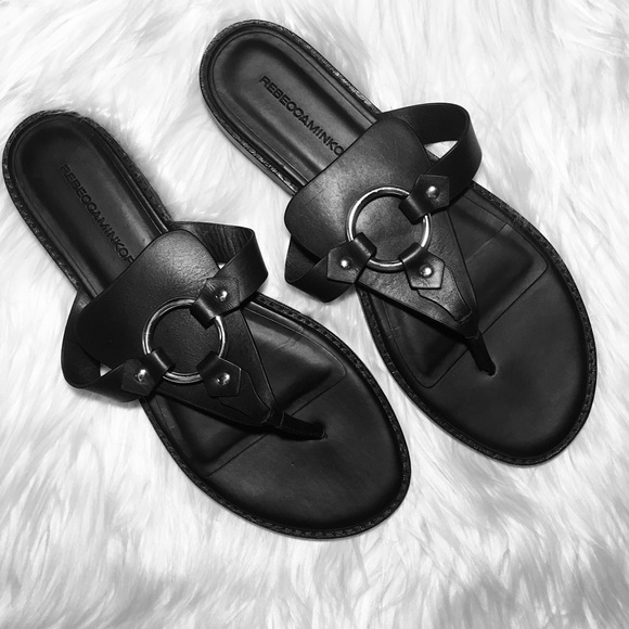 df4a686a9a2 Rebecca Minkoff Black Sheena Thong Sandals 8.5. M 5ab02e319cc7efae7d4d25d0